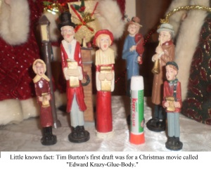 """Little known fact: Tim Burton's first draft was for a Christmas movie called """"Edward Krazy Glue Body""""."""