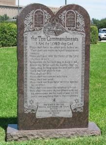 The Ten Commandments Monument