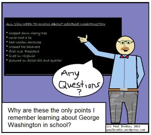 "teacher sharing ""facts"" about Washington"