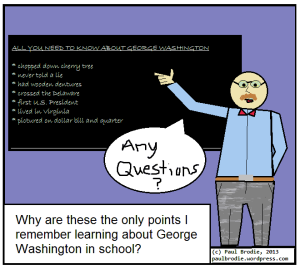 "teacher sharing ""facts"" about Washington"